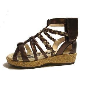 オシュコシュ OSHKOSH グラディエータサンダル サンダル ブロンズ キッズ 靴|nws