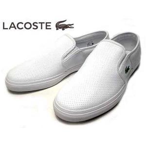 ラコステ LACOSTE GAZON BL 1 スリッポン スニーカー ホワイト メンズ 靴|nws