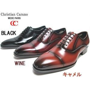 クリスチャンカラノ Christian Carano ヒールアップ ストレートチップ ビジネスシューズ メンズ 靴|nws