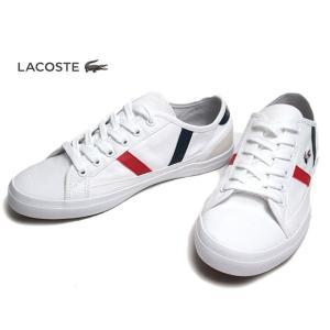 ラコステ LACOSTE CFA046M SIDELINE TRI 2 ホワイトネイビーレッド スニーカー レディース 靴|nws