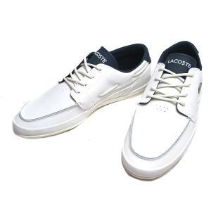 ラコステ LACOSTE MARINA 119 2 オフホワイトネイビー スニーカー メンズ 靴|nws
