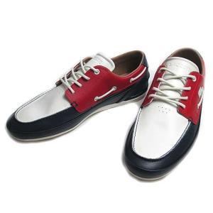 ラコステ LACOSTE MARINA 119 7 ネービーオフホワイトレッド デッキシューズ メンズ 靴|nws