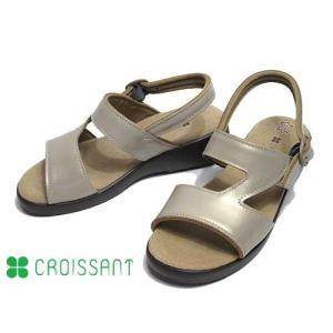 クロワッサン CROISSANT コンフォートサンダル ゴールド レディース 靴|nws