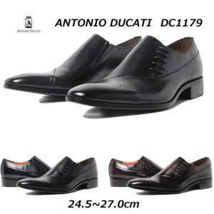 アントニオ デュカティ ANTONIO DUCATI サイドレース メダリオン ビジネスシューズ メンズ 靴|nws