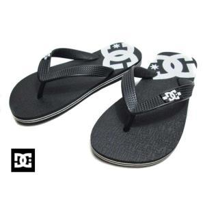 ディーシーシューズ DC SHOES DK201033 BKW SPRAY ビーチサンダル キッズ 靴【ラッピング不可】|nws