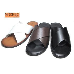 モデロ MODELLO 本革 高級 レザーサンダル DM5129 メンズ 靴 nws