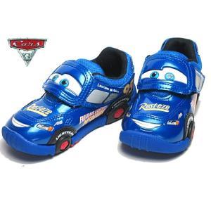 ディズニー 子供靴 DN C1200 ディズニー カーズ3 キャラクター ブルー キッズ 靴|nws