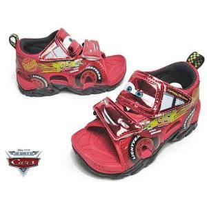 Disney ディズニー カーズ3 キャラクターサンダル レッド キッズ 靴|nws