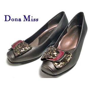 ドナミス  Dona Miss バックルデザインローウエッジパンプス ブロンズ レディース・靴 nws