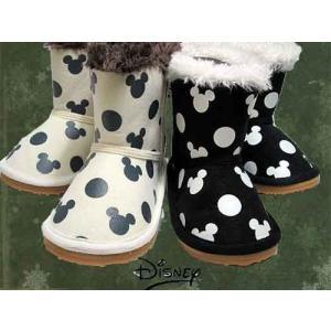 ディズニー Disney ミッキーマウス Mickey Mouse ムートンブーツ ファー付きブーツ キッズ 靴 nws