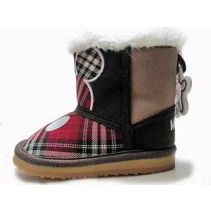 ディズニー Disney baby boots キッズブーツ ベビーブーツ ミッキーマウス ムートンブーツ レッド キッズ 靴|nws