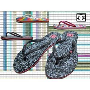 ディーシーシューズ DC SHOES ウィメンズ スプレー グラフィック ビーチサンダル トング レディース 靴|nws