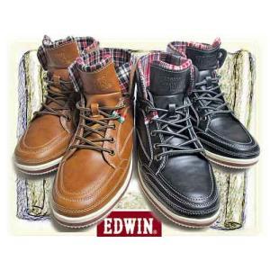 エドウィン EDWIN オリジナルスニーカー ハイカットタイプ メンズ 靴|nws