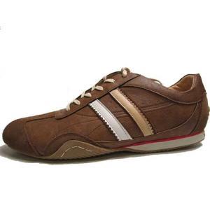 エルオム ELLE HOMME レザースニーカー レースアップシューズ キャメル メンズ 靴|nws