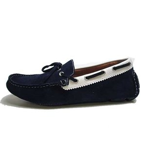 エルオム ELLE HOMME ドライビングシューズ インディアン調モカシン ネイビー メンズ 靴|nws