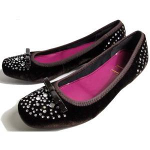 ELLE ローヒールスタッズパンプス ダークブラウン レディース・靴|nws