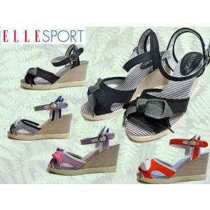エルスポーツ ELLE SPORT ストラップ ウェッジソールサンダル レディース 靴|nws