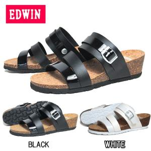 エドウィン EDWIN EW6012 フットベットヒールサンダル レディース 靴|nws