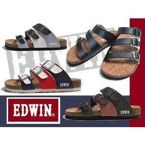 エドウィン EDWIN コンフォートサンダル フットベットサンダル 3本ベルト サンダル メンズ 靴|nws