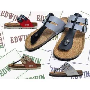 エドウィン EDWIN コンフォートサンダル フットベットサンダル トング サンダル メンズ 靴|nws