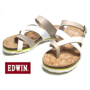 エドウィン Miss EDWIN フットベットサンダル コンフォートサンダル サンダル レディース 靴|nws