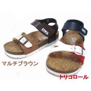 エドウィン EDWIN コンフォートサンダル フットベットサンダル ストラップ サンダル キッズ 靴|nws