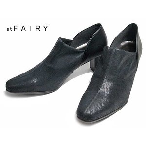 フェアリー at FAIRY 8417 ワイズ3E ストレッチパンプス ブラック レディース 靴|nws