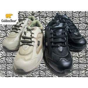 ゴールデンベア Golden Bear レースアップシューズ ファスナー付き スニーカー メンズ 靴|nws