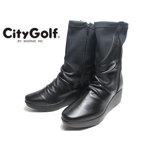 シティゴルフ City Golf ストレッチショートブーツ ブラック レディース 靴|nws