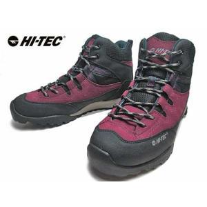 ハイテック HI-TEC トレッキングシューズ HT HKU10 AORAKI MID WP ブラック/パープル レディース 靴|nws