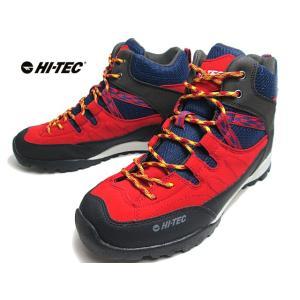 ハイテック HI-TEC レッキングシューズ HT HKU10 AORAKI MID WP レッドネイビー メンズ レディース 靴|nws
