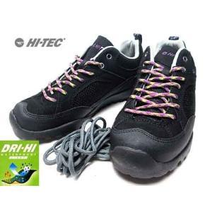 ハイテック HT-TEC HT HKW05 アオラギ WP W アウトドアスニーカー ローカットスニーカー ブラック レディース 靴|nws
