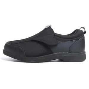ヘルシーライフ Healthy Life 介護シューズ 面ファスナー コンフォートシューズ 男女兼用 ブラック メンズ レディース 靴|nws