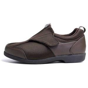 ヘルシーライフ Healthy Life 介護シューズ 面ファスナー コンフォートシューズ 男女兼用 Dブラウン メンズ レディース 靴|nws