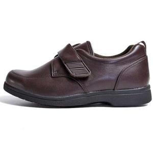 ヘルシーライフ Healthy Life 介護シューズ マジックテープ コンフォートシューズ ダークブラウン メンズ 靴|nws