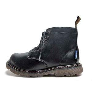 ハンテン レースアップブーツ キッズ 編み上げ ファスナー付き カラー:ブラック キッズ 靴 nws