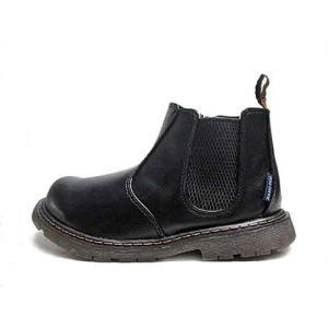 ハンテン サイドゴアブーツ フォーマルブーツ ファスナー付き ブーツ ブラック キッズ 靴 nws