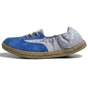 インディアン Indian ローカットシューズ ジュート巻き バレエシューズタイプ スニーカー ブルー/ドット レディース 靴|nws