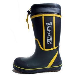 スポルディング SPALDING ラバーブーツ レインブーツ 長靴 雨靴 ゴム長 ブラック キッズ 靴 nws