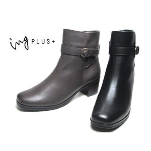 イングプラス ing PLUS ベルトデザインショートブーツ レディース 靴