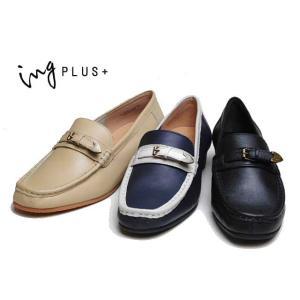 イングプラス ing PLUS + IPRM02314 2E ベルトデザインモカシューズ レディース 靴|nws