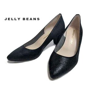 ジェリービーンズ Jelly Beans ポインテッドプレーンパンプス 黒 レディース・靴|nws