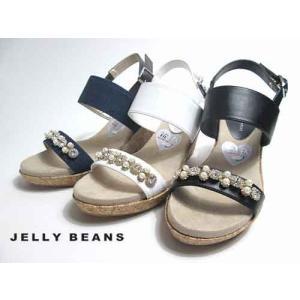 ジェリービーンズ Jelly Beans ウエッジヒールバックバンドサンダル レディース・靴|nws