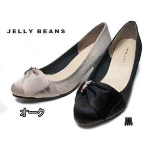 ジェリービーンズ JELLY BEANS 金具サイドリボンパンプス レディース 靴|nws