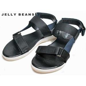 ジェリービーンズ Jelly Beans ジップラインスポーティサンダル 黒 レディース・靴 nws