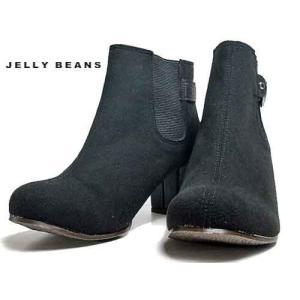 ジェリービーンズ Jelly Beans サイドゴアショートブーツ 黒S レディース・靴|nws