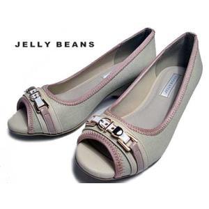ジェリービーンズ Jelly Beans ベルトデザインオープントゥベイビーパンプス ベージュ レディース・靴 nws