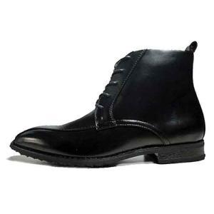 スタークレスト STAR CREST ビジネスブーツ レースアップブーツ スワールモカ 防水仕様 ブラック メンズ 靴|nws