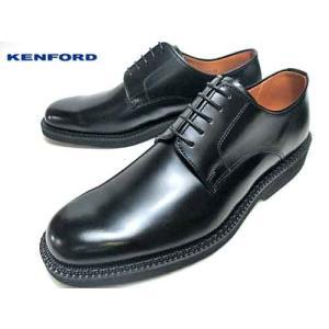 ケンフォード KENFORD プレーントゥ 3E 大きいサイズ ブラック ビジネスシューズ メンズ 靴 nws