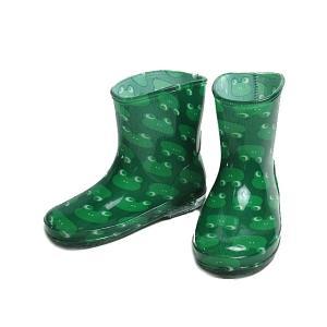 モンフレール Mon Frere レインブーツ レインシューズ 長靴 雨靴 かえるグリーン キッズ 靴 nws